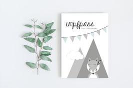 """Impfpass """"Fuchs"""" in Türkis"""
