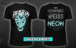 """T-Shirt """"Schwarz Weiß Neon"""""""