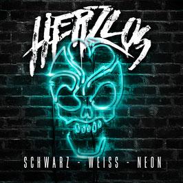 Herzlos - Schwarz Weiß Neon