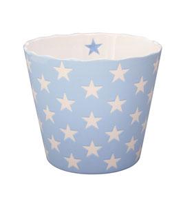 Large Happy Bowl Babyblau mit Sternen