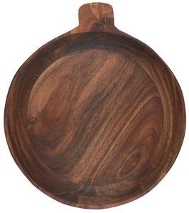 Schale gross mit kleinem Henkel geöltes Akazienholz