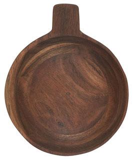 Schale klein mit kleinem Henkel geöltes Akazienholz