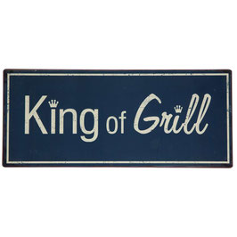 "Metallschild ""King of Grill"""