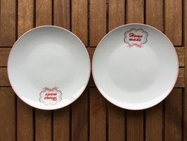 "Plate White ""Home made"""