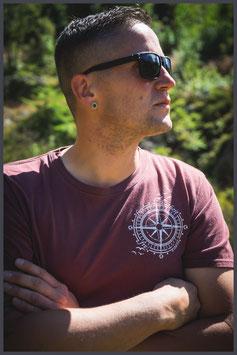 "FH Shirt ""Windrose"" st.wa.burgundy - Unisex -"