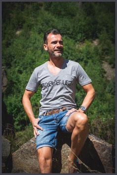 "FH Shirt ""Logo Birds"" grau mel. - Männer -"
