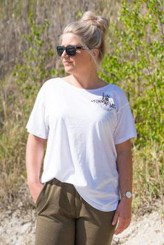 """FH Shirt """"Boxy Classic"""" weiß - Frauen -"""