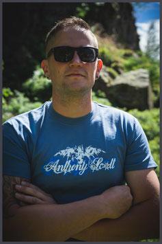 """AS Shirt """"Logo"""" indigo blau - Männer -"""