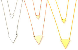 Tunis Double Triangle Necklace