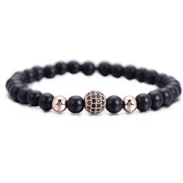 Rosé Black Pearl Bracelet
