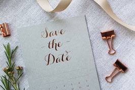 SAVE THE DATE • GREY / ROSEGOLD