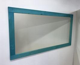 Wandspiegel in Fichte Türkisblau