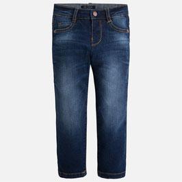 2017-504 029 Oscuro Pantalón largo tejano para niño de corte slim fit