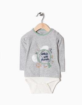Body camiseta  bebe niño Zippy
