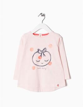 Camiseta rosa claro bebe niña zippy