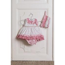Vestido bebe niña braguita y capota Dolce petit