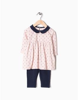 Conjunto legging rosa bebe niña zippy