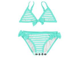 3750 019 - Bikini rayas turquesa Mayoral