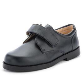 Zapato velcro colegial niño PIEL