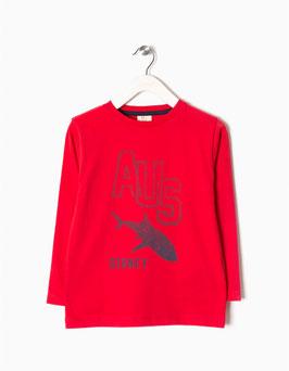 Camiseta Australia bebe niño Rojo Zippy