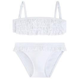 Blanco Bikini volantes troquelados mayoral