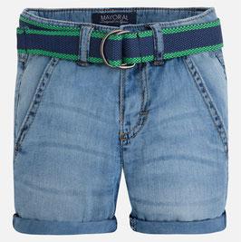 03207-019 Pantalón corto niño estilo vaquero con cinturón mayoral