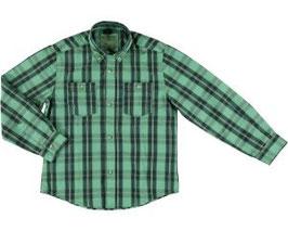 Camisa manga larga cuadros tintados menta Mayoral