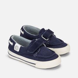Zapatillas de niño estilo náutico de lona mayoral
