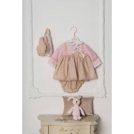 Vestido braguita y gorrro bebe niña Dolce Petit