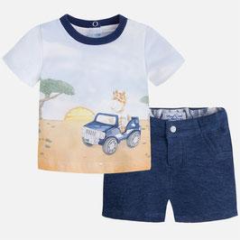 01233-088 Pantalón corto y camiseta print bebe niño mayoral