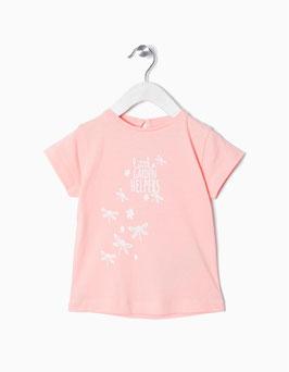 Camiseta bebe niña rosa Zippy