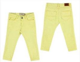 Pantalon sarga elastan basico amarillo Mayoral