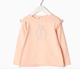 Jersey de punto bebe niña rosa mariquita Zippy