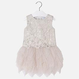 03920-035 Vestido con cuerpo de guipur para niña mayoral