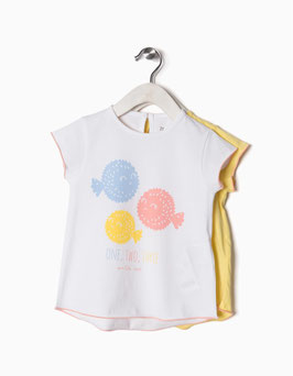 Pack 2 camisetas bebe niña Zippy