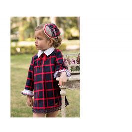 Vestido niña cuadros marino y rojo Dolce Petit