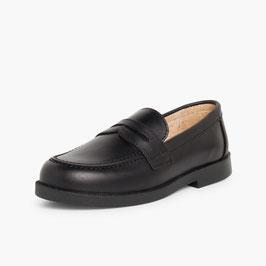 Zapato mocasín colegial niño PIEL