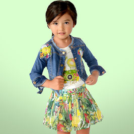 03912-008Falda pantalón con fuelles para niña mayoral