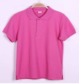 Polo pique de algodon manga corta bebe color rosa Outlet.