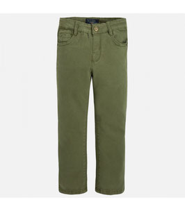 41 051 verde caza Pantalón largo básico de niño en sarga Mayoral