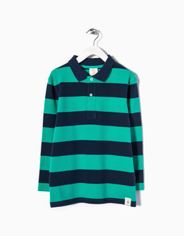 Polo verde a rayas manga larga niño Zippy