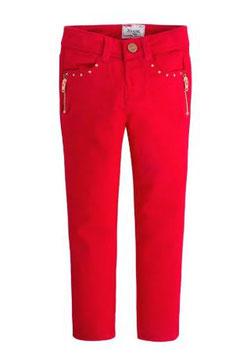 4552-053 Pantalón largo cremalleras color rojo Mayoral