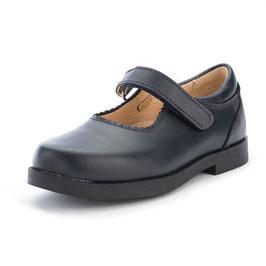 Zapato velcro colegial niña PIEL