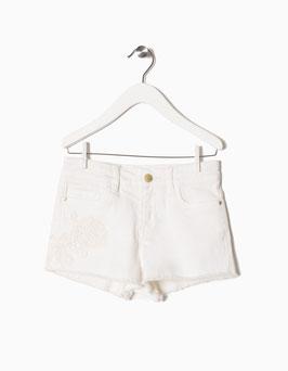 Shorts flor bordada niña zippy