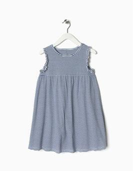 Vestido a rayas azul   niña zippy