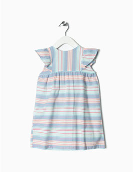 Vestido estampado con cubrepañal bebe niña zippy