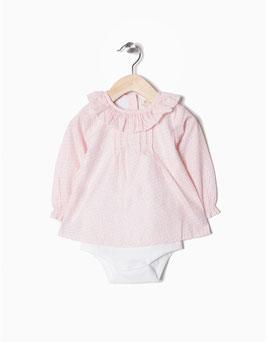 Body blusa con flores bebe niña zippy