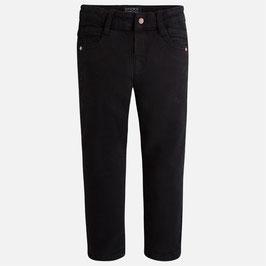 4.521 063 Negro Pantalón largo para niño en sarga tejanera Mayoral