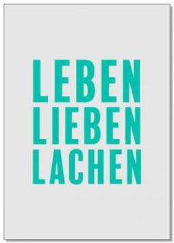 "Postkarte ""Leben, Lieben, Lachen"""
