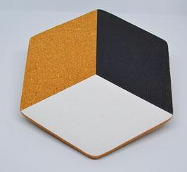 Untersetzer - Kork- Hexagon
